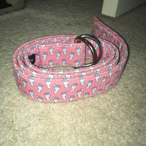 Coral/blue Vineyard Vines belt